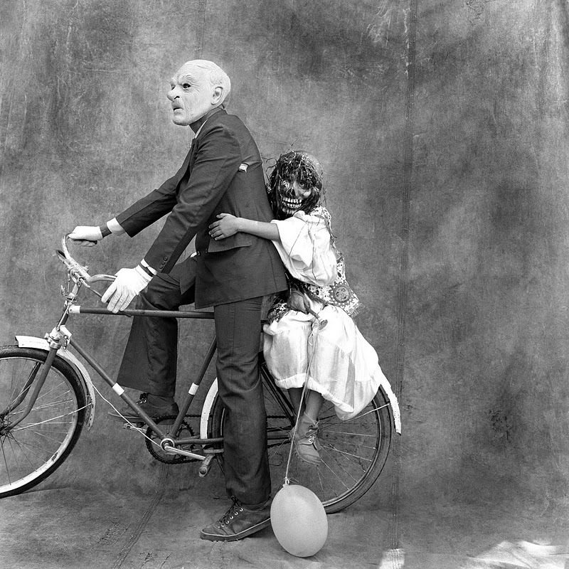 Scary people on a bike