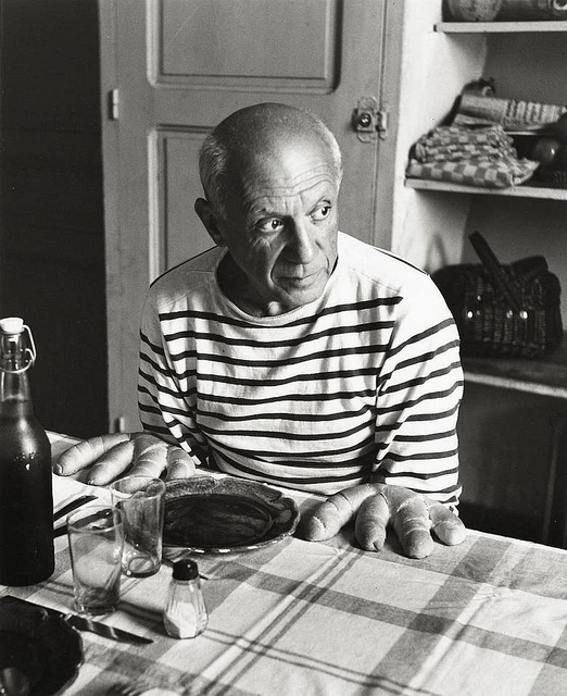 pablo picasso fooling around