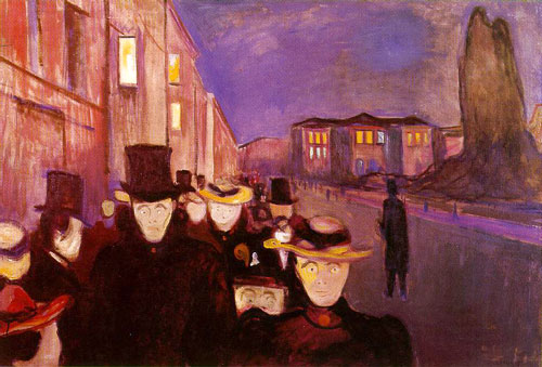 Edvard Munch's Evening on Karl Johan