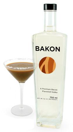 Bacon-flavoured vodka -- a chocolate bakon martini!