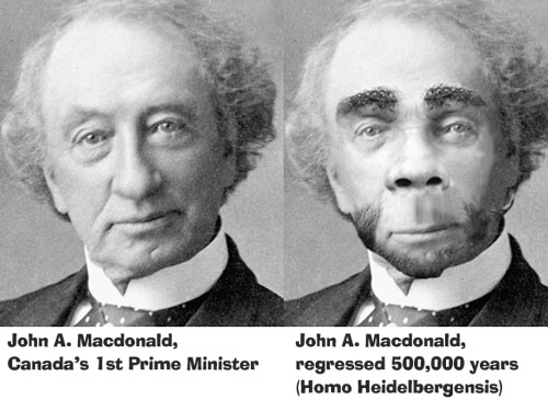John A. Macdonald, if he looked more like a monkey