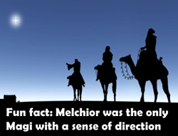 Melchior had a sense of direction