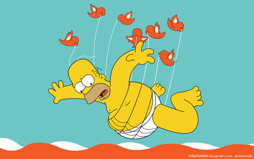Homer Simpson becomes the new Fail Whale