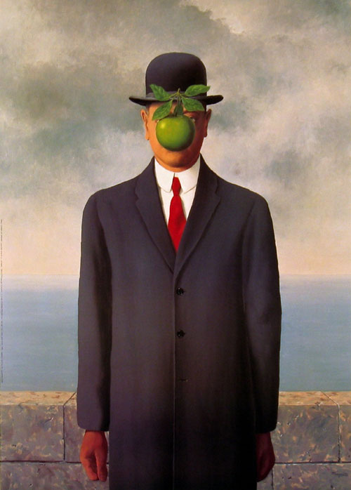image of Rene Magritte's Son of Man