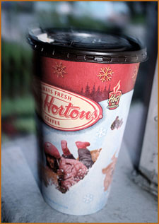 Tim Horton's Christmas coffee cup