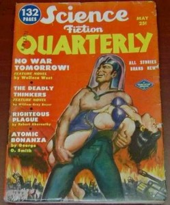 pulp fiction cover - Science Fiction Quartlerly