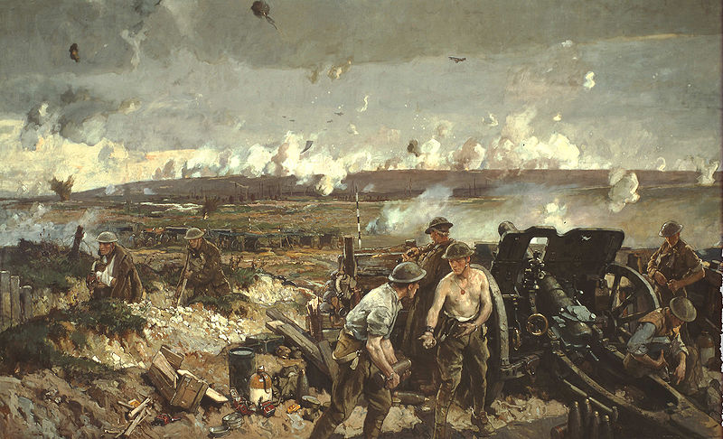 attle of Vimy Ridge -- a painting by Richard Jack