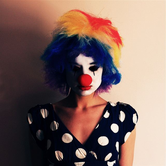 Clown with ennui