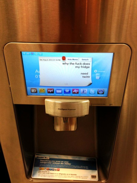 fridge with web browser