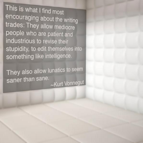 kurt vonnegut quote padded room