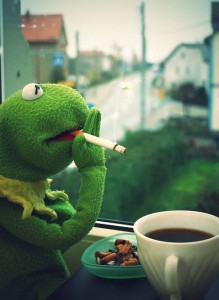 kermit smoking