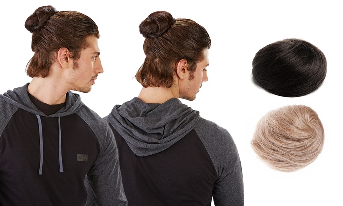 pin in hair bun for men