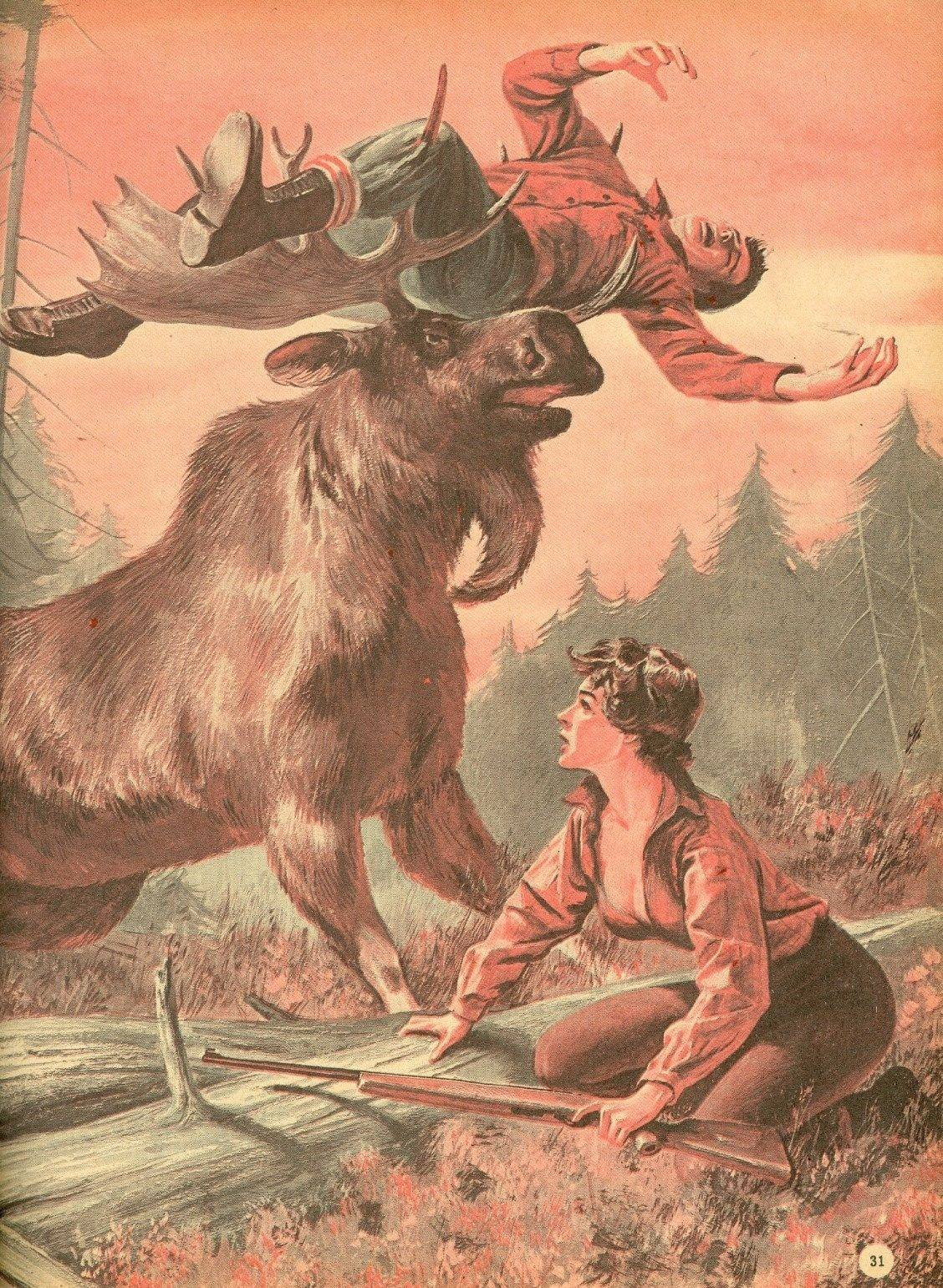 moose killing hoser in front of hosette