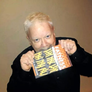 Mark taking a bite out of his novel
