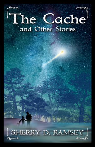 the cache and other stories - cover showing night sky with shooting star