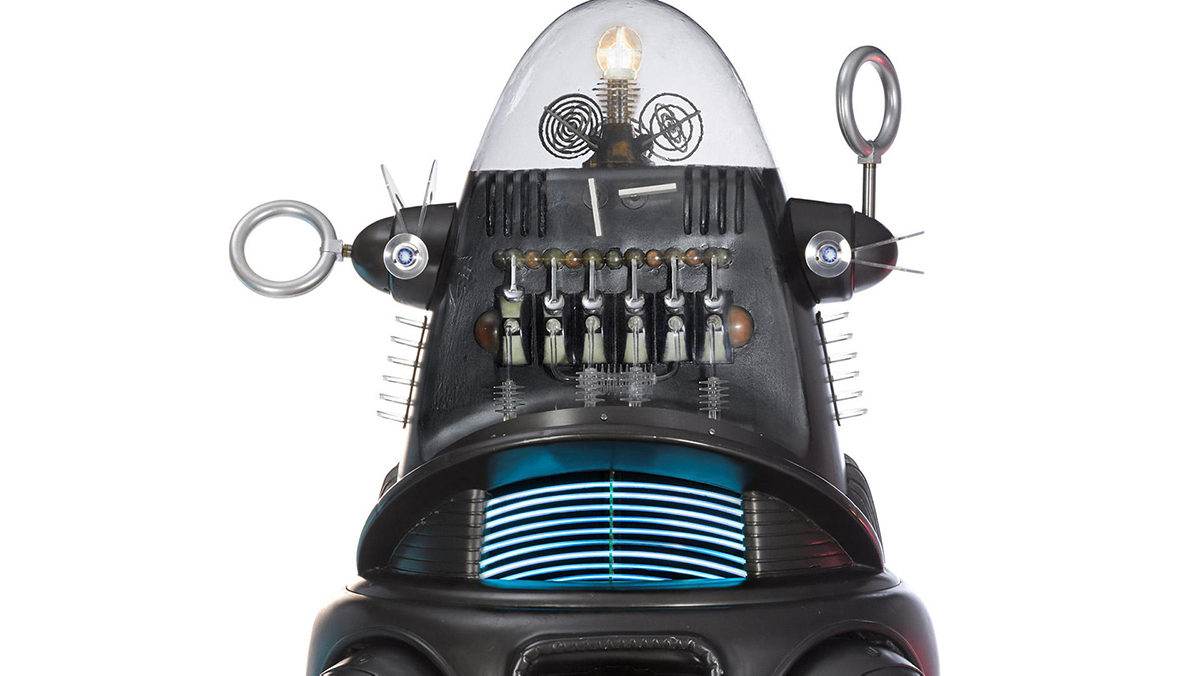 robby the robot close up