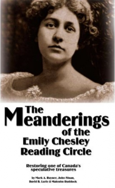The Meanderings of the Emily Chesley Reading Circle -- cover art of sepia-toned photograph of lovely young woman