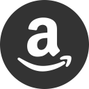 amazon logo -- a with curved arrow beneath it in circle
