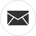 Email logo - an envelope within a circle