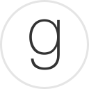 Goodreads logo -- g in a circle
