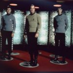 McCoy, Kirk and Spock are all about to die as their bodies are de-atomized over a period of several agonizing seconds.