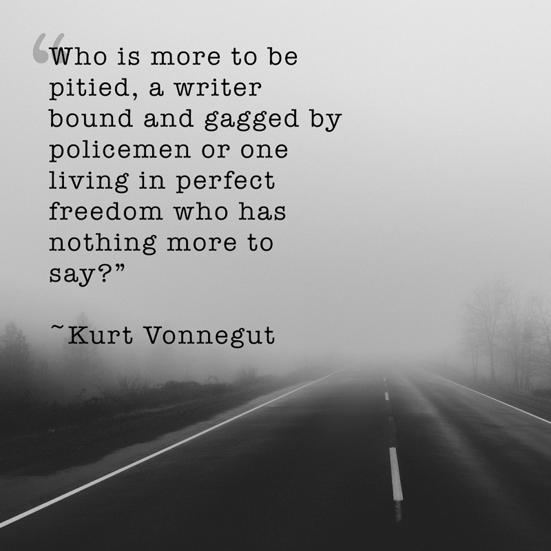 vonnegut quote on empty road image