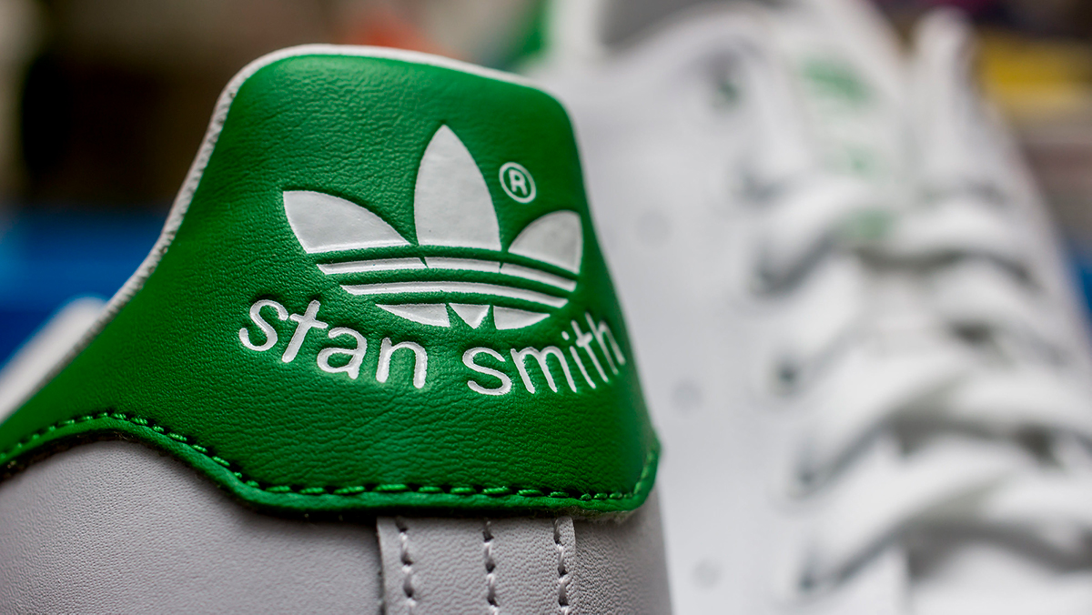 close up of stan smiths (adidas running shoes) from the back